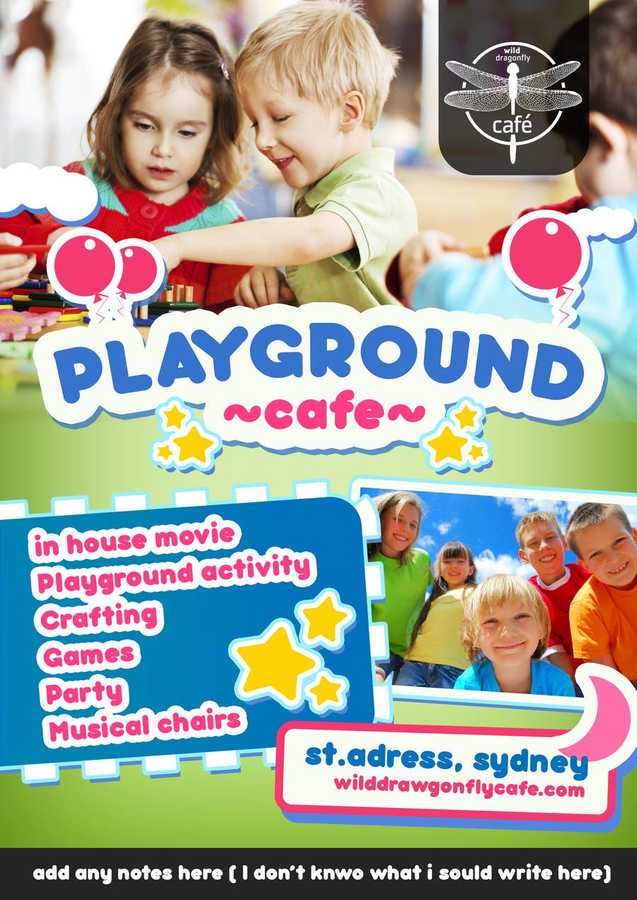 contest entry 12 for design a flyer for cafe for pop up playgroup activities
