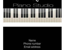 #28 para Design some Business Cards for a Piano teaching business por AngiH70