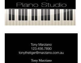 #35 for Design some Business Cards for a Piano teaching business af AngiH70