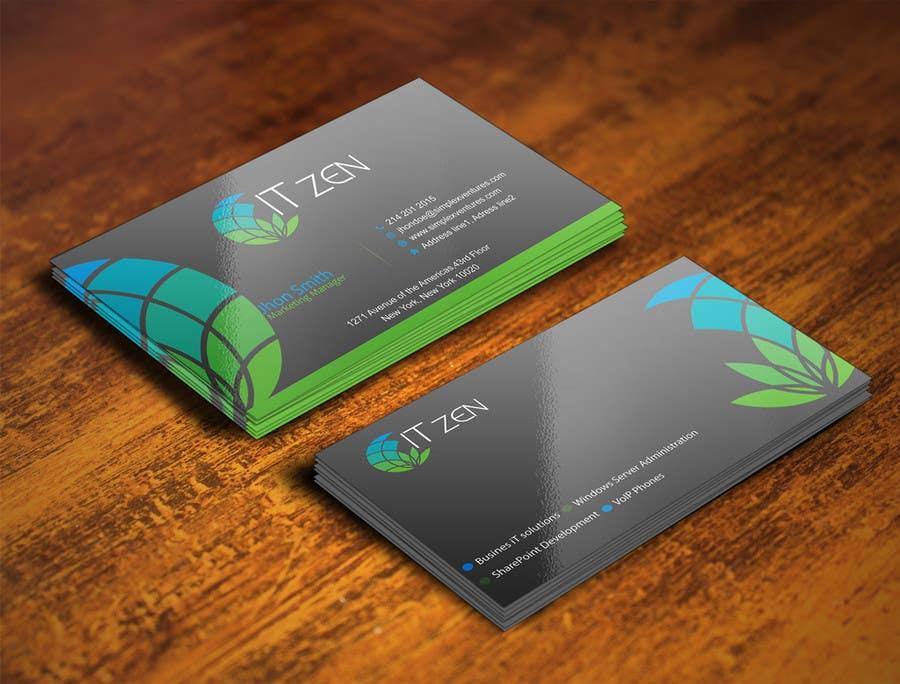 Konkurrenceindlæg #124 for Design some Business Cards for IT Zen