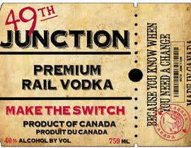 "#13 untuk Design a Logo for ""49th Junction"" Premium Rail Vodka oleh roxrye"