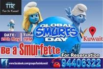 Graphic Design Konkurrenceindlæg #8 for Design a Banner for an Smurf Event