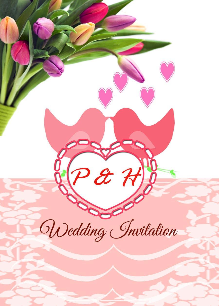 Konkurrenceindlæg #                                        7                                      for                                         Wedding Invitation design needed