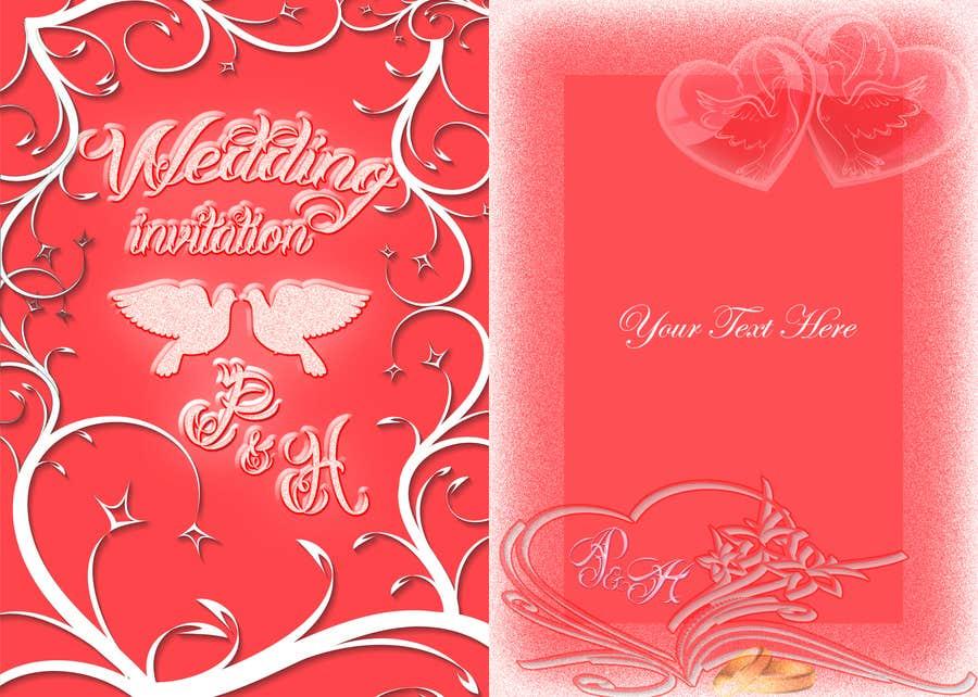 Konkurrenceindlæg #                                        6                                      for                                         Wedding Invitation design needed