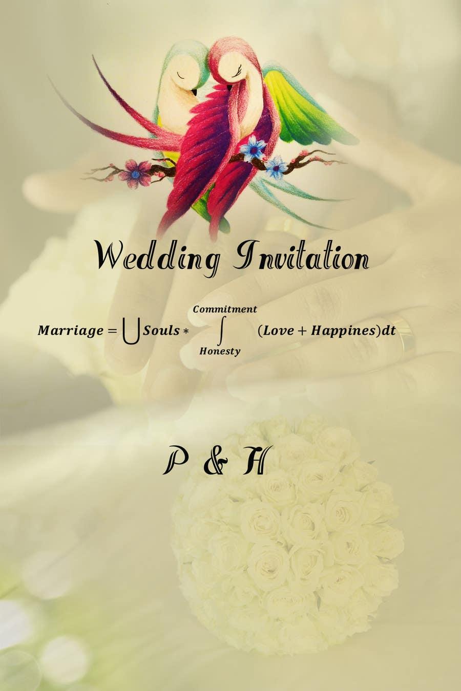 Konkurrenceindlæg #                                        5                                      for                                         Wedding Invitation design needed