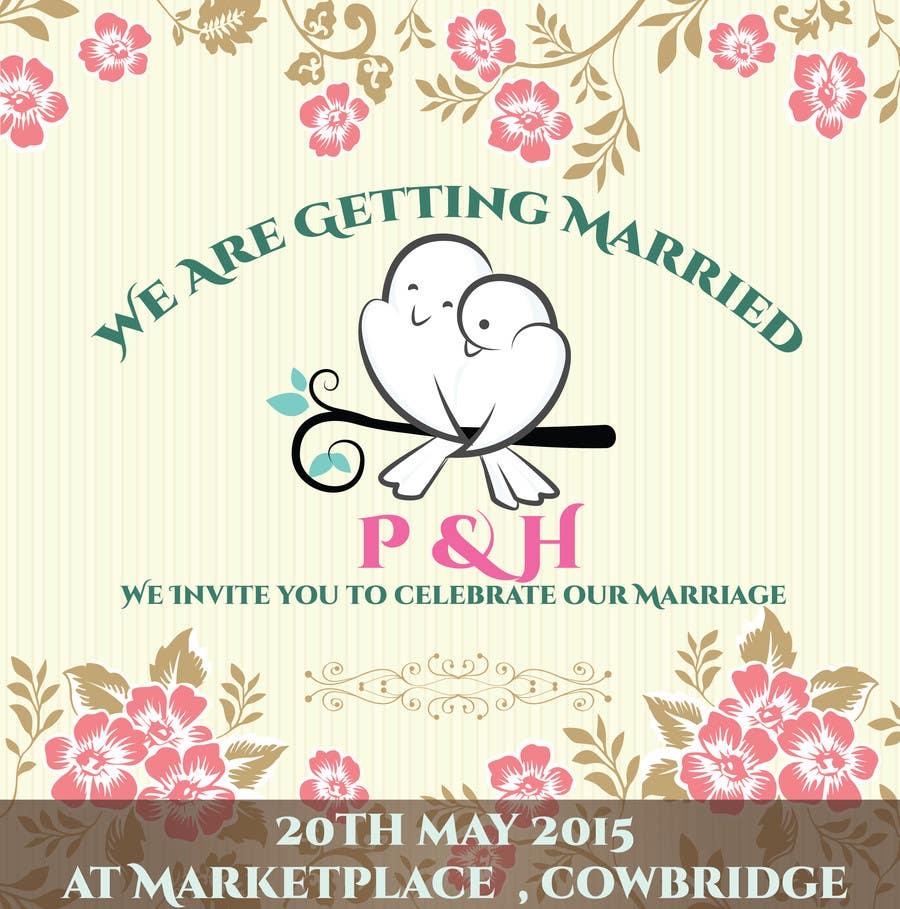 Konkurrenceindlæg #                                        3                                      for                                         Wedding Invitation design needed