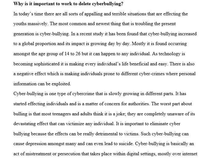 entry by rajmaurya for cyberbullying essay lancer cyberbullying essay
