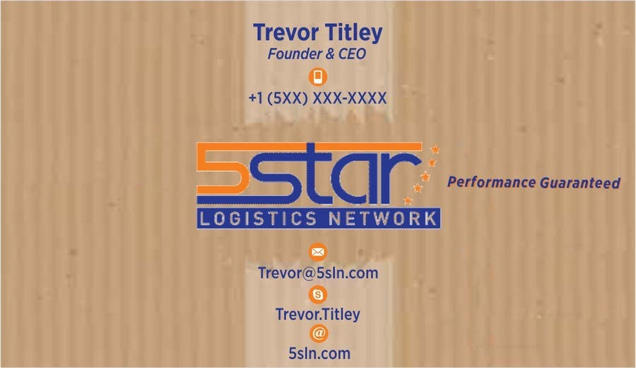 Contest Entry #                                        18                                      for                                         Design some Business Cards for 5 Star Logistics Network