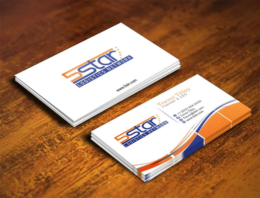 Konkurrenceindlæg #                                        21                                      for                                         Design some Business Cards for 5 Star Logistics Network