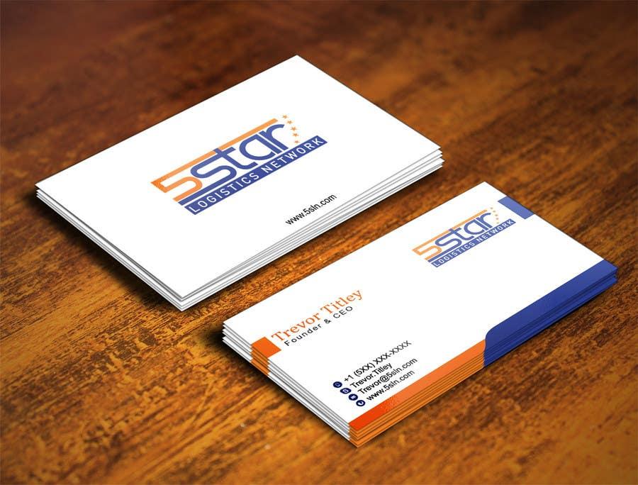 Konkurrenceindlæg #                                        24                                      for                                         Design some Business Cards for 5 Star Logistics Network
