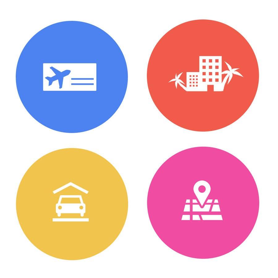 Kilpailutyö #9 kilpailussa Design Icons for travel website