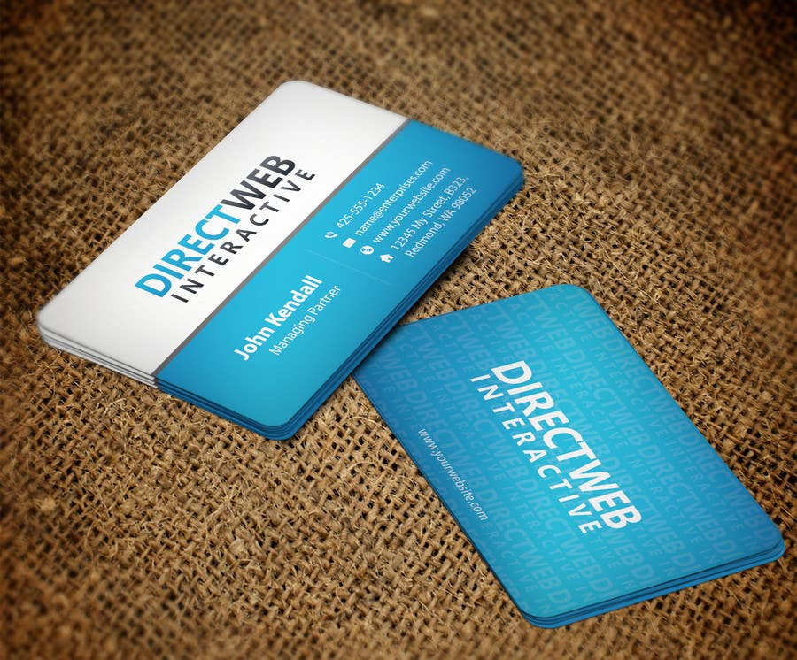 Konkurrenceindlæg #                                        98                                      for                                         Design Business Card For Marketing Agency