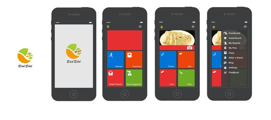 Contest Entry #81 for Design an App Mockup for DesiDiet