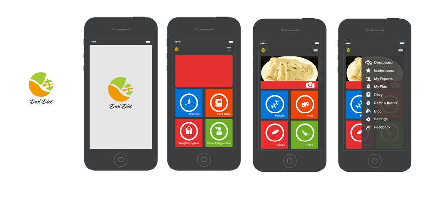 Contest Entry #82 for Design an App Mockup for DesiDiet
