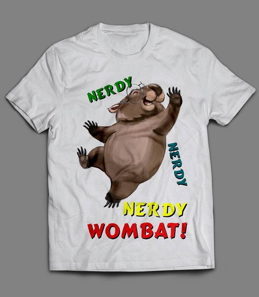 Konkurrenceindlæg #8 for Design Wombat T-Shirt