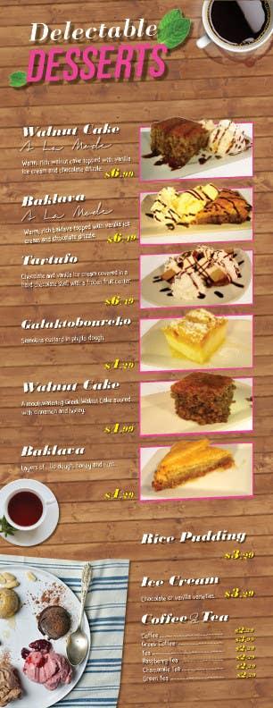 Konkurrenceindlæg #                                        7                                      for                                         Design a Dessert Menu for Mykonos Greek Restautant