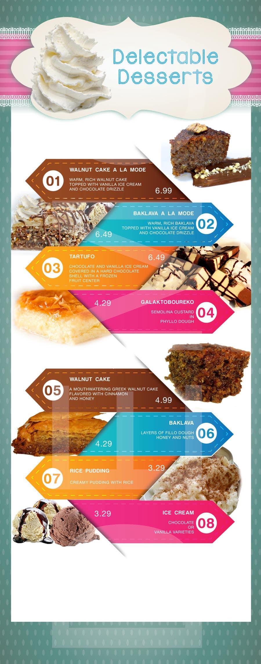 Konkurrenceindlæg #                                        2                                      for                                         Design a Dessert Menu for Mykonos Greek Restautant