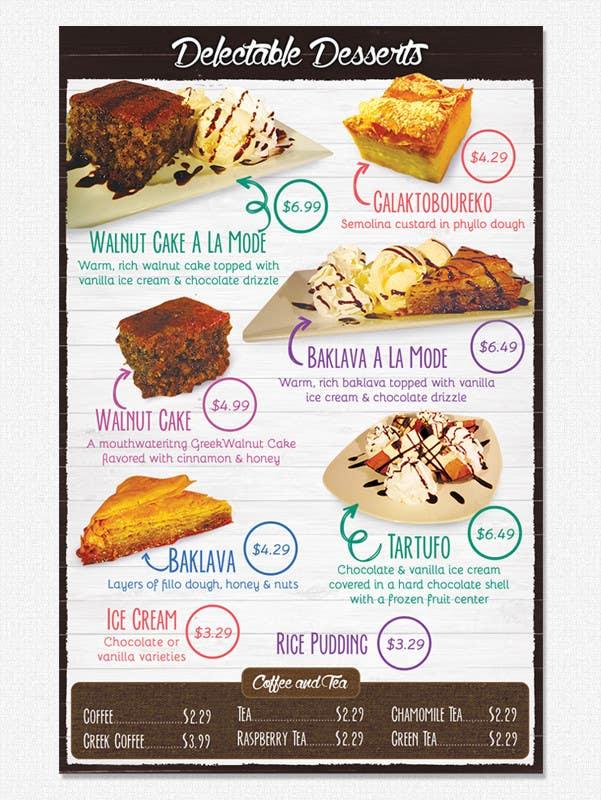 Konkurrenceindlæg #                                        8                                      for                                         Design a Dessert Menu for Mykonos Greek Restautant