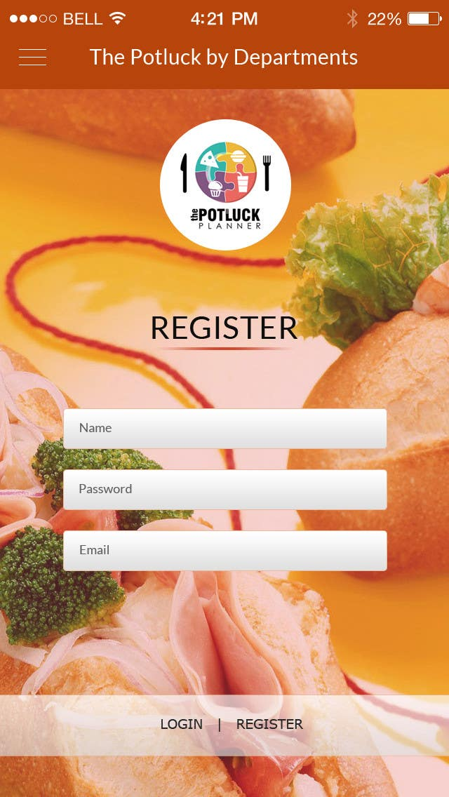 Konkurrenceindlæg #2 for Design an App Mockup for 'The Potluck Planner'