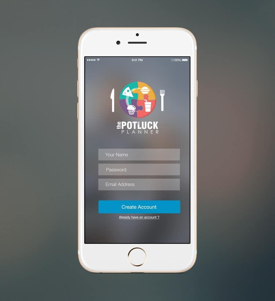Konkurrenceindlæg #7 for Design an App Mockup for 'The Potluck Planner'