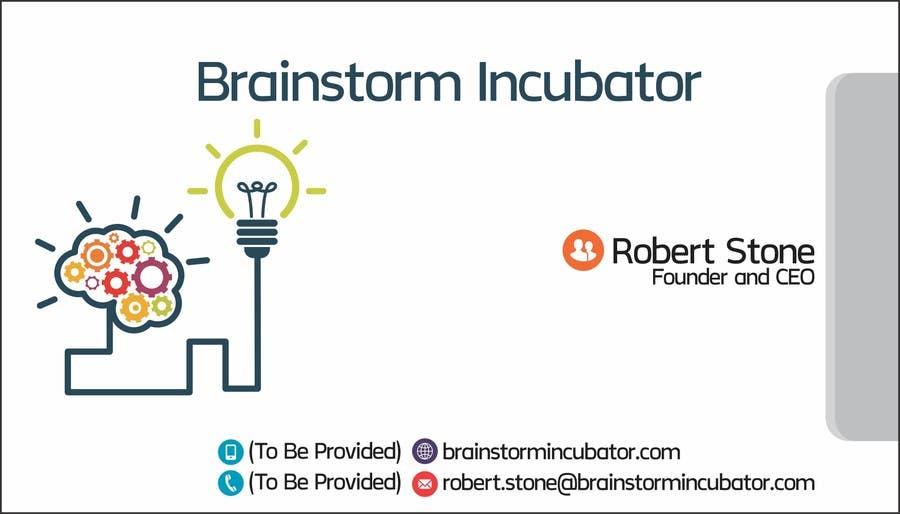 Inscrição nº 57 do Concurso para Design some Business Cards for BrainStorm Incubator
