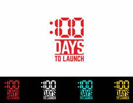 #5 for Logo Design for 100 Days to Launch af AntonMihis