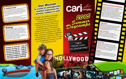 msdvenkat tarafından Design a Fun Daycamp brochure themed around 'SHOWTIME' için no 40