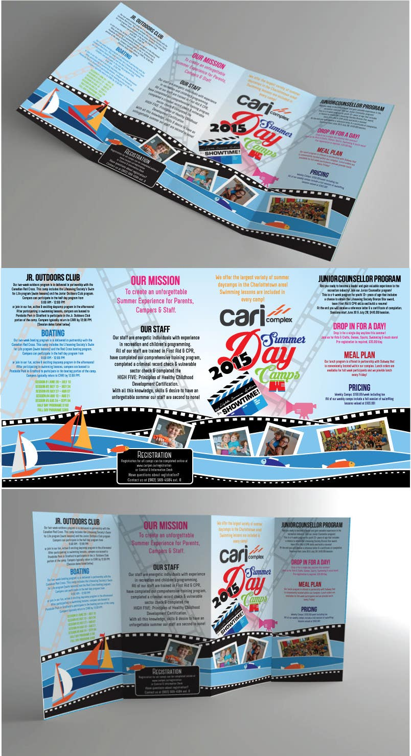 Contest Entry #                                        18                                      for                                         Design a Fun Daycamp brochure themed around 'SHOWTIME'