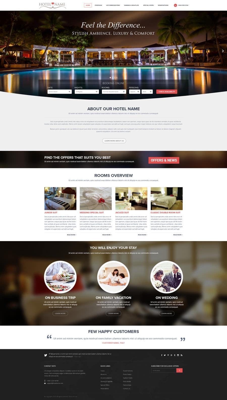 Konkurrenceindlæg #                                        3                                      for                                         Design a Website Mockup for Hotel