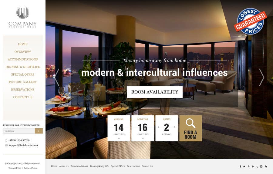 Konkurrenceindlæg #                                        39                                      for                                         Design a Website Mockup for Hotel
