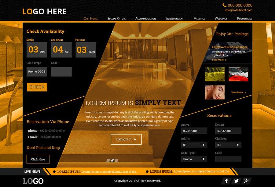 Konkurrenceindlæg #                                        16                                      for                                         Design a Website Mockup for Hotel