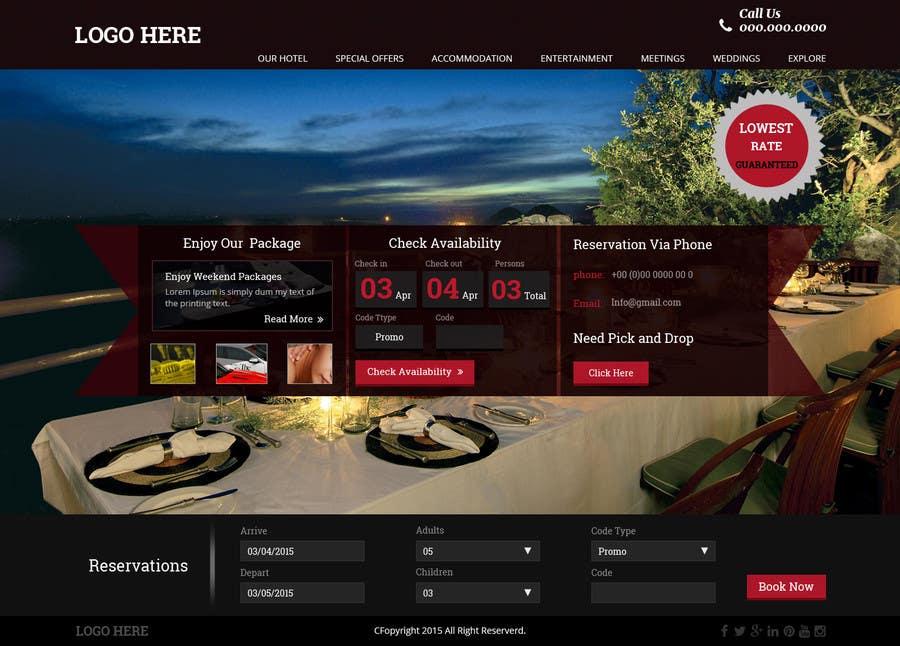 Konkurrenceindlæg #                                        40                                      for                                         Design a Website Mockup for Hotel