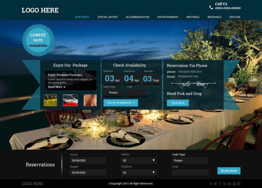 Konkurrenceindlæg #                                        42                                      for                                         Design a Website Mockup for Hotel