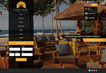 #22 cho Design a Website Mockup for Hotel bởi ankisethiya