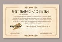 Bài tham dự #22 về Graphic Design cho cuộc thi Design a Ordination Cirtifcate