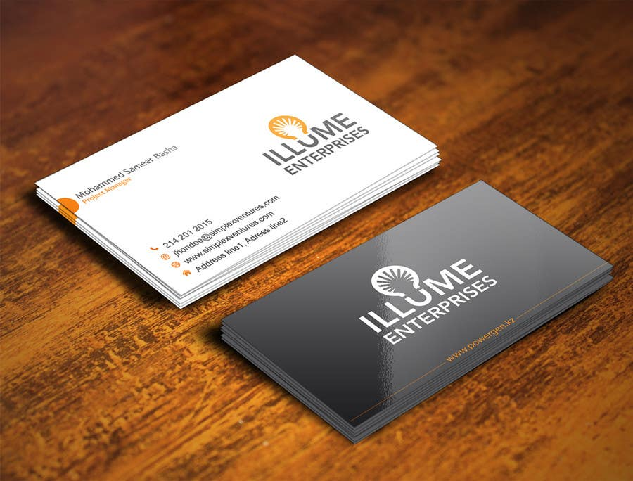 Entry #130 by gohardecent for Unique Business Card for New ...
