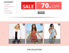 nº 4 pour Design the homepage of Fashion eCommerce store par Modeling15
