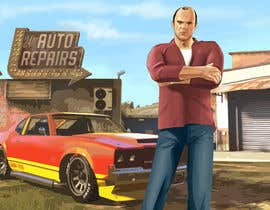 "#14 untuk Illustrate a provided character in ""Grand Theft Auto V""  poster style. oleh irvsat"