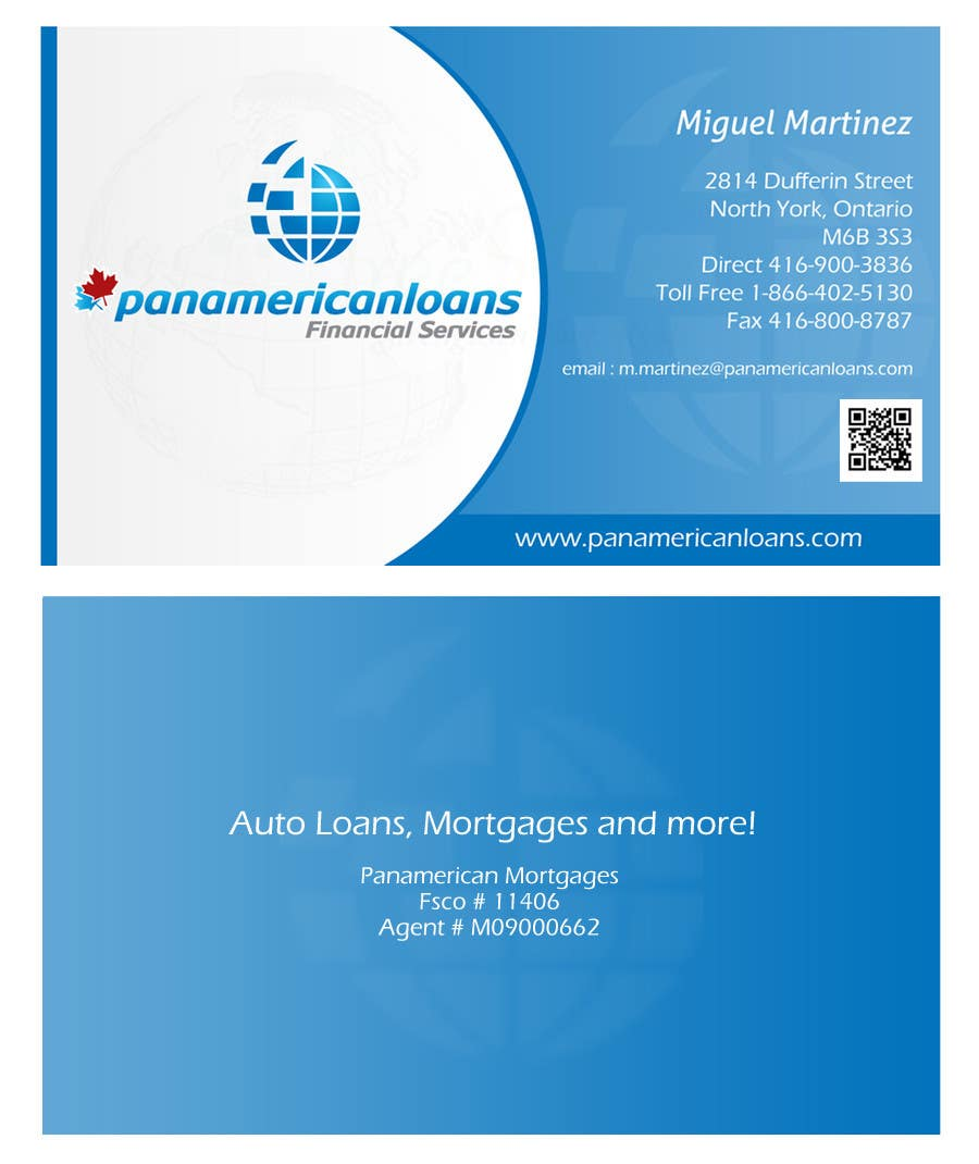 #25 for Design some Business Cards for Panamerican Loans by leadvisit