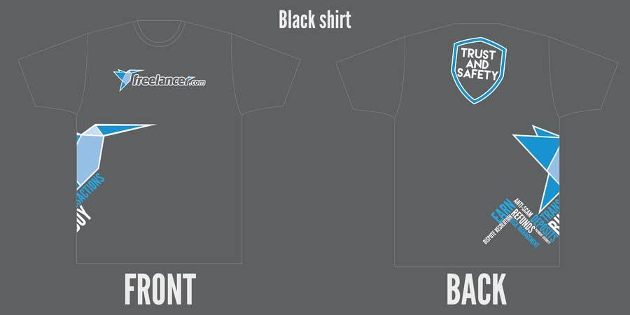 Konkurrenceindlæg #                                        66                                      for                                         Design a T-Shirt for Freelancer.com's Trust and Safety Team