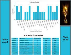 "FRIDAH21 tarafından Simple website layout for ""Football prediction"" için no 8"