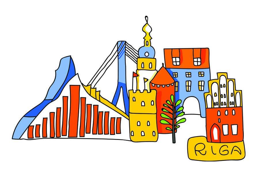 Konkurrenceindlæg #4 for City panorama cartoon illustration