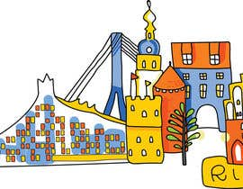 #7 for City panorama cartoon illustration by ruxandratonco