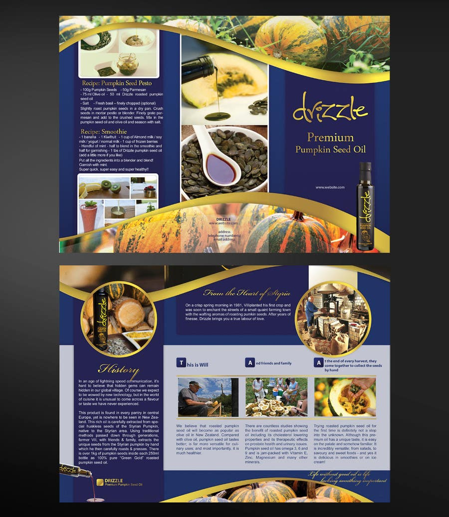 Contest Entry #                                        21                                      for                                         Flowing brochure for premium, high-end food product.