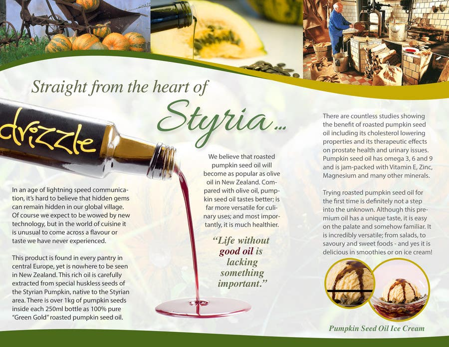Contest Entry #                                        9                                      for                                         Flowing brochure for premium, high-end food product.