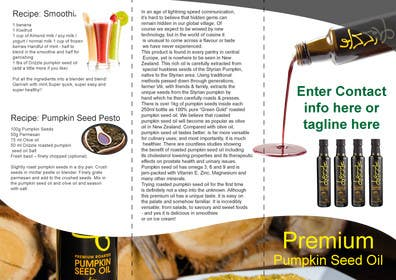 #12 cho Flowing brochure for premium, high-end food product. bởi sgsicomunicacoes