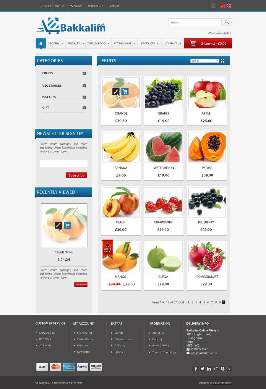 #27 for Design a Website Mockup for ONLINE SUPER MARKET by datagrabbers