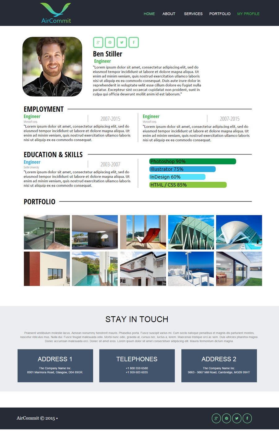Konkurrenceindlæg #                                        10                                      for                                         Design a Website Mockup for AirCommit