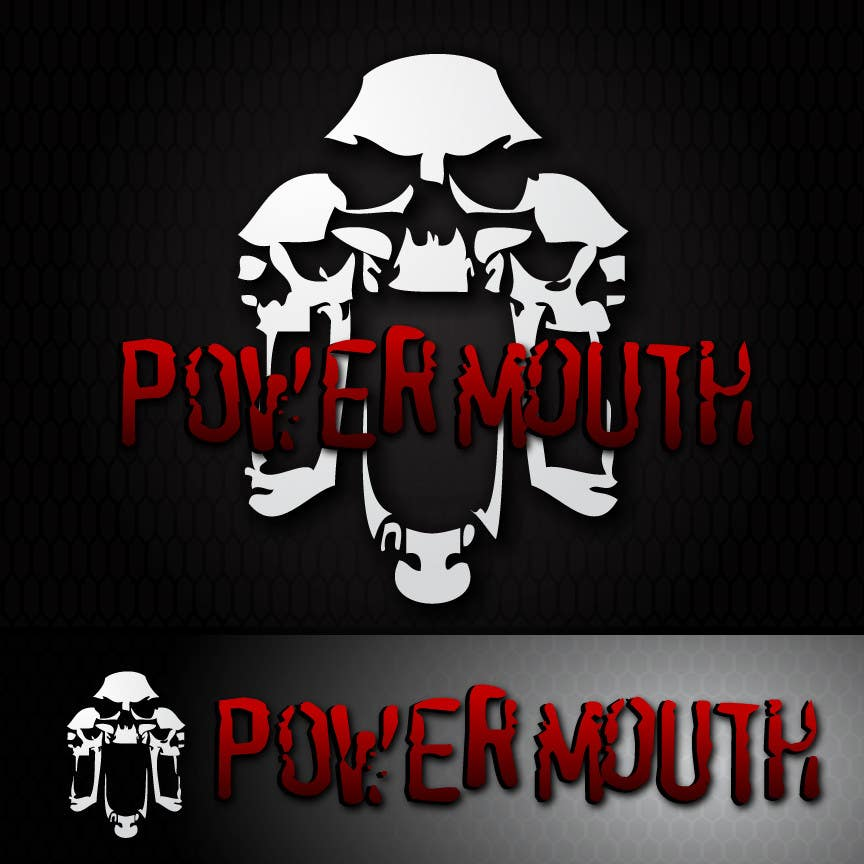 "Kandidatura #                                        47                                     për                                         Logo and Symbol Design for ""POWERMOUTH"", melodic industrial metal band"