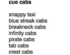 #5 for Suggest a Name for a Taxi Company by geranatkinson
